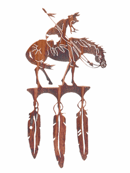 Horse and Warrior Southwestern Artwork