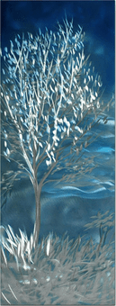 Icy Limbs Handcrafted Trees Metal Wall Hanging