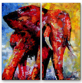 Intense Wildlife Elephant Art