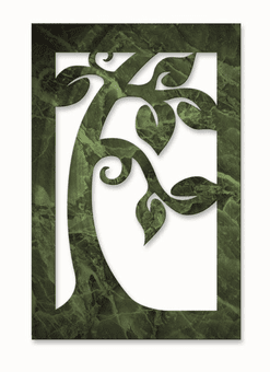 Jaded Tree Metal Wall Art