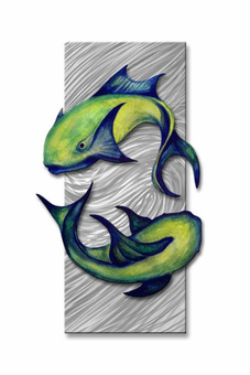 Koi Couple Fish Wall Art