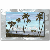 Lagoon of Palms Tropical Wall Art