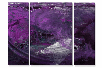 Lava Lavender Abstract Art