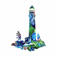 Lighthouse by the Bay Metal Wall Sculpture