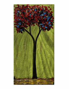 Lime Infusion Colorful Tree Art