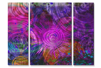 Magenta Percussion Abstract Art