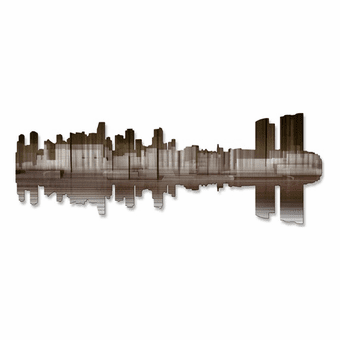 Miami Skyline Metal Wall Hanging