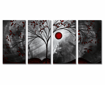 Midnight Forest Four-Panel Metal Wall Art