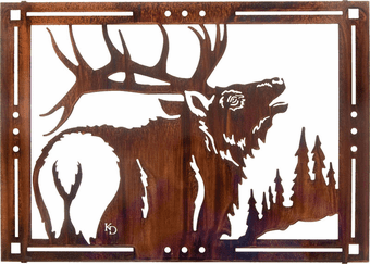 Mighty Moose Metal Wall Art Hanging
