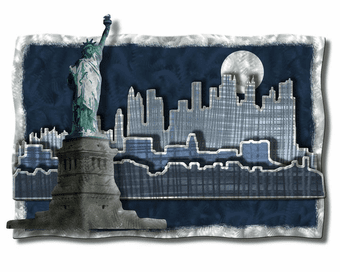 Modern Liberty Urban City Wall Art