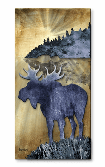 Moose Country North Style Wall Art