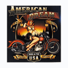 Motorcycle Pinup Girl Wall Art