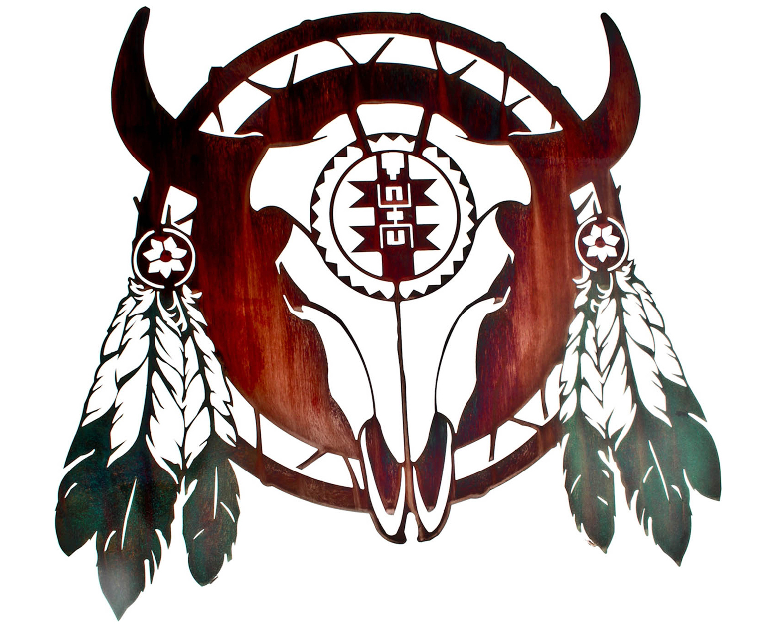 native american bull skull art