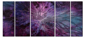 Non-Violent Violet Abstract Artwork