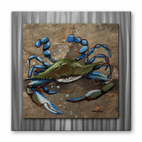 Not-So-Crabby Beach Walker Metal Art