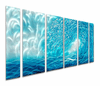Ocean Waves Metal Wall Art Set of 6