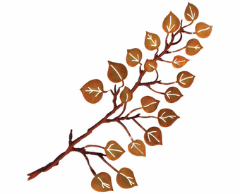 October Foliage Branch Metal Wall Sculpture