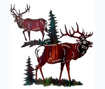 Pair of Elk Wall Art
