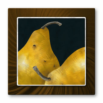 Pair of Pears Metal Wall Art