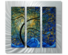 Paisley Perfection Handcrafted Trees Metal Wall Hanging