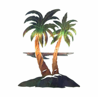 Palm Tree Breezes Metal Wall Hanging