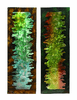 Profound Color Abstract Metal Wall Sculpture Pair