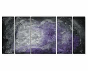Purple Haze Wall Panels Set of 5