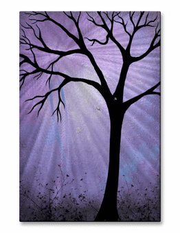 Purple Night Tree Wall Art