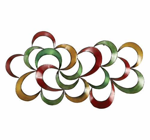 Rainbow Cloud Contemporary Metal Wall Decor