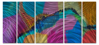 Rainbow Prism Contemporary Wall Panels