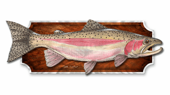 Rainbow Trout Wall Plaque
