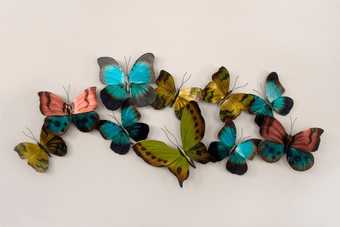 Rainbow Wings Butterfly Metal Wall Decor