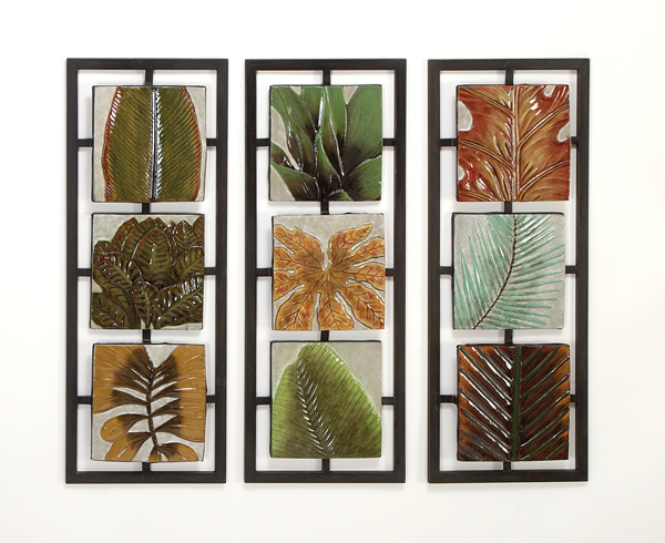 Rainforest Collage Decorative Metal Wall Art Set of 3