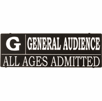"Rated ""G"" Home Theater Metal Wall Art Sign"