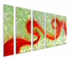 Red Excitement Metal Wall Art Set of 6