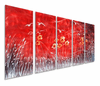 Red Moon Metal Wall Sculpture Set of 5