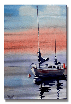 Safe Harbor Sailboat Wall Art