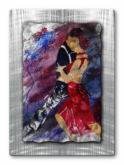 Salsa Couple Abstract Handmade Metal Wall Hanging