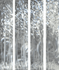 Sensational Silver Forest Hand Painted Aluminum Wall Art Set of 4