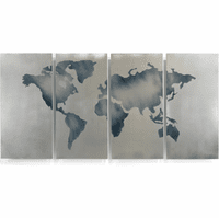 Seven Continents Metal Wall Sculpture Set of 4