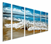 Shell, Surf and Sky Seascape Art Panels Set of 6