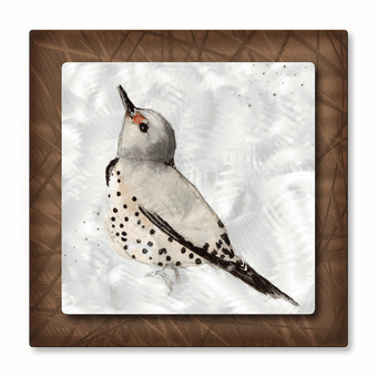 Snow Bird Metal Wall Art