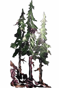 Stand of Pines Metal Wall Sculpture