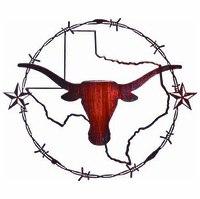State of Texas Icons Metal Wall Art Sculpture