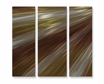 Streaks of Amber Metal Art