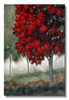 Sunlit in Crimson Tree Wall Art