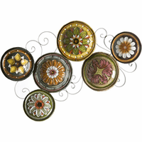 Swirling Floral Disks Metal Wall Hanging