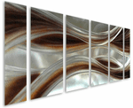 Tempted by Caramel Handcrafted Aluminum Wall Hanging Set of 6