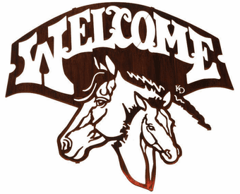 Thoroughbred Horse Welcome Metal Wall Art