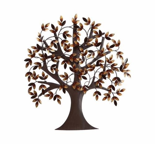 Tree of Tranquility and Peace Metal Wall Hanging